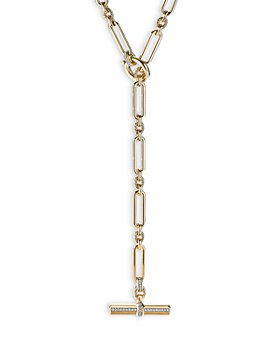 David Yurman - Lexington Toggle Necklace in 18K Yellow Gold with Diamonds, 18""
