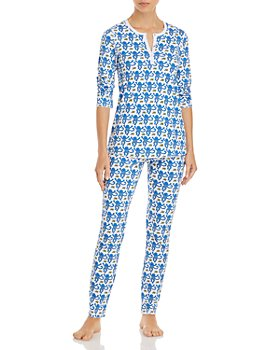 Roller Rabbit - Cotton Monkeys Print Pajamas Set