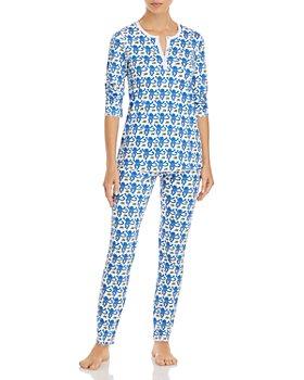 Roller Rabbit - Cotton Monkeys Print Pajamas Set