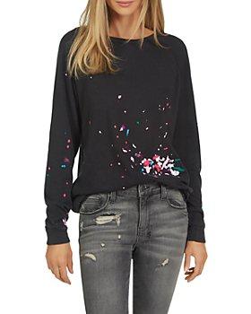 Michael Lauren - Oswald Splatter Print Cotton Sweatshirt
