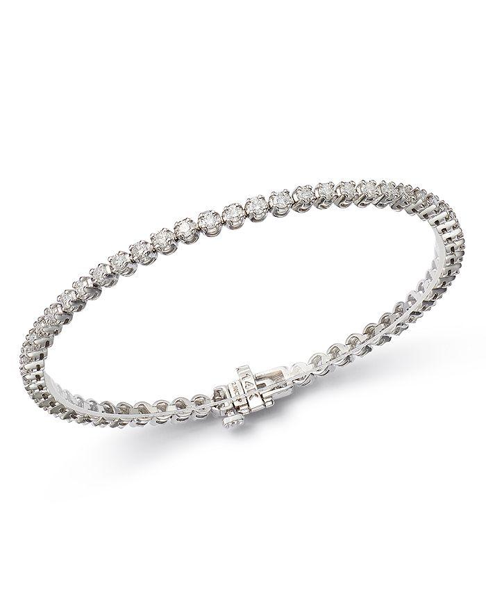 Bloomingdale's - Certified Diamond Tennis Bracelet in 14K White Gold, 2.50-8.0 ct. t.w. - 100% Exclusive