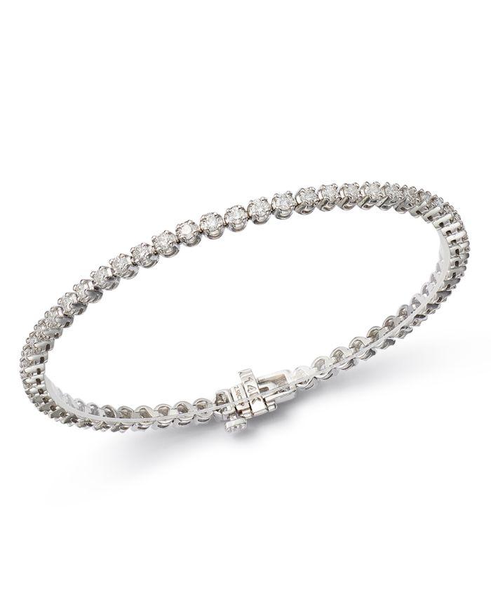 Bloomingdale's Certified Diamond Tennis Bracelet in 14K White Gold, 2.50-8.0 ct. t.w. - 100% Exclusive  | Bloomingdale's