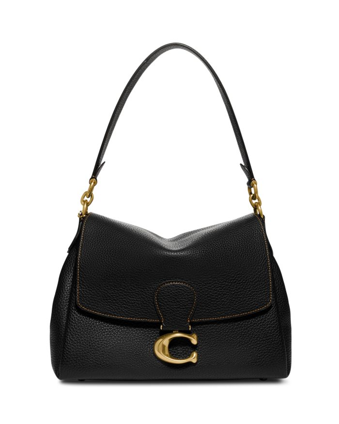 COACH May Small Pebble Leather Shoulder Bag  | Bloomingdale's