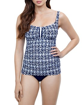 Profile by Gottex - Printed Round Neck Tankini Top