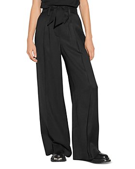 Sandro - Ellina High Waist Wide Leg Pants