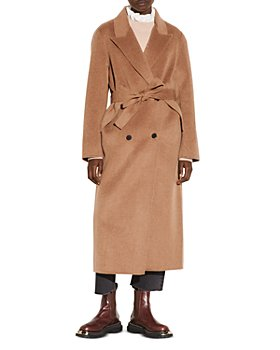 Sandro - Dalma Double Faced Wool Blend Double Breasted Coat