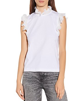 Sandro - Jasy Ruffled Collar Top