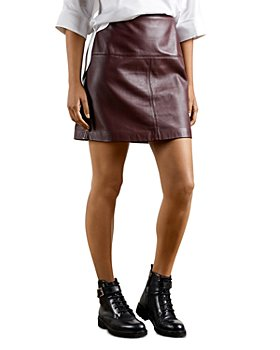 Ted Baker - Valiat Leather Mini Skirt