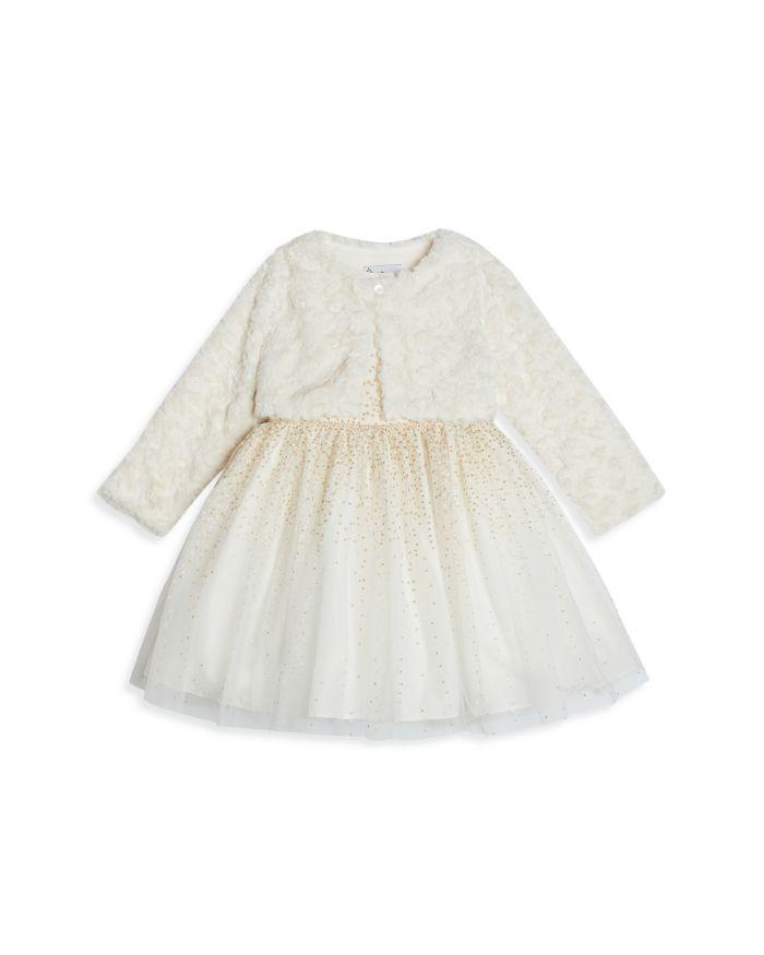 Pippa & Julie Girls' Glittery Cardigan Dress - Baby  | Bloomingdale's