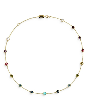 Ippolita 18K Yellow Gold Lollipop Multi Stone Station Necklace, 16-Jewelry & Accessories