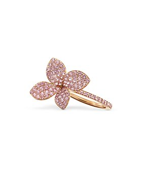 Pasquale Bruni - 18k Rose Gold Petit Garden Pink Sapphire Flower Ring