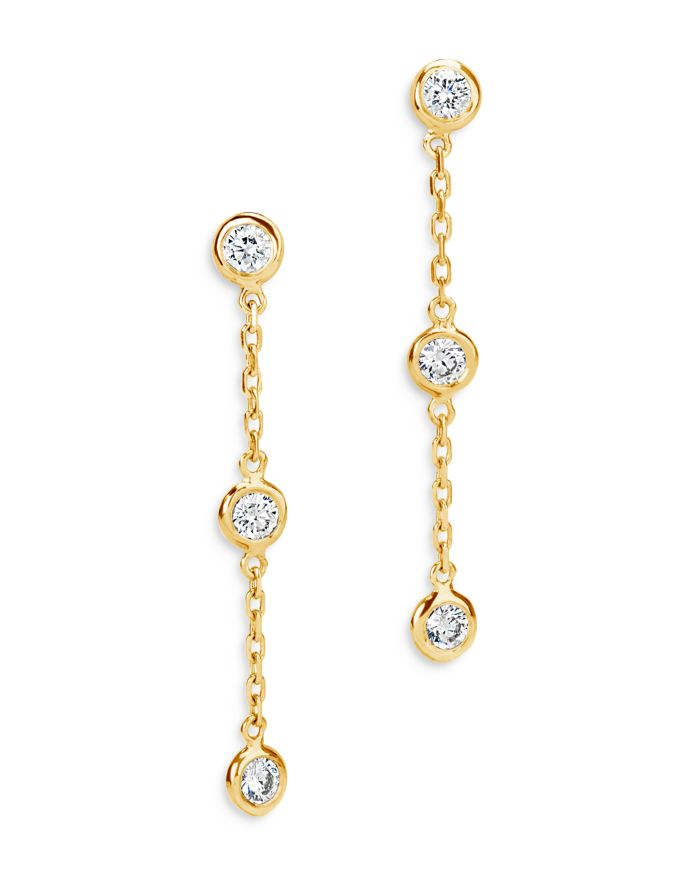 Bloomingdale's Diamond Bezel-Set Drop Earrings in 14K Yellow Gold, 0.50 ct. t.w. - 100% Exclusive    Bloomingdale's