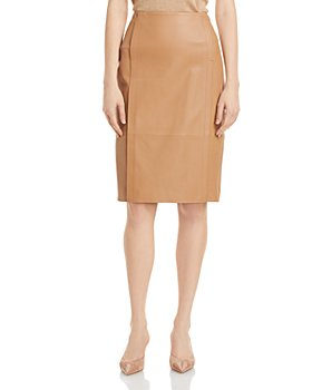 BOSS - Sepassa Leather Pencil Skirt