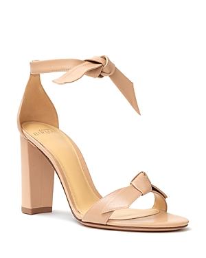Alexandre Birman Women's Clarita Ankle Tie High Block Heel Sandals
