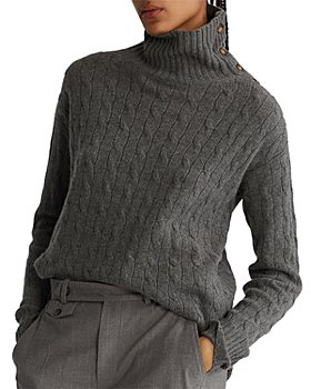 Ralph Lauren - Buttoned-Placket Turtleneck