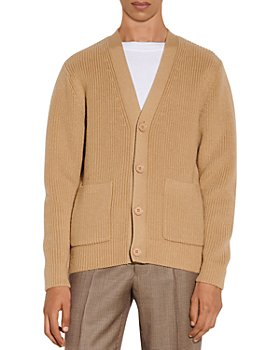 Sandro - Wool Ribbed Button Cardigan