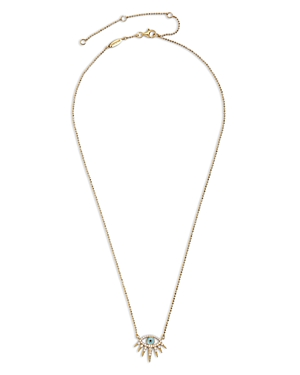 Baublebar Tali Cubic Zirconia Evil Eye Pendant Necklace in 14K Gold Plated Sterling Silver, 16-19-Jewelry & Accessories