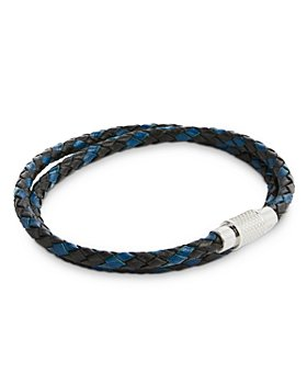 Ted Baker - Braided Double Wrap Leather Bracelet