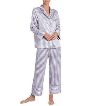 In Bloom by Jonquil - Striped Satin Cropped Pajama Pants Set