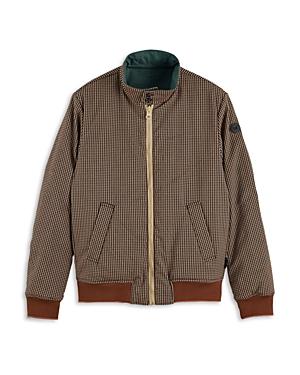 Scotch & Soda Cotton Blend Reversible Regular Fit Bomber Jacket-Men