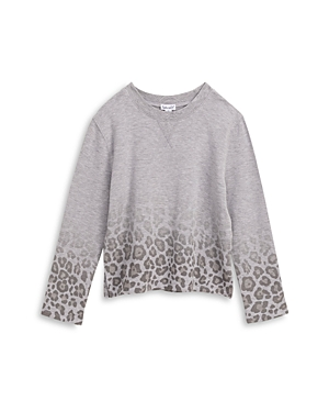 Splendid Girls\\\' Ombre Leopard Print Sweatshirt - Big Kid-Kids