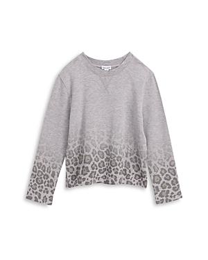Splendid Girls\\\' Ombre Leopard Print Sweatshirt - Big Kid-Kids
