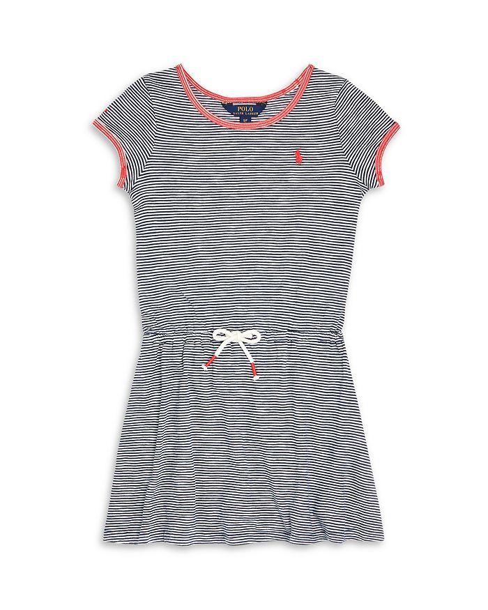 Ralph Lauren - Girls' Striped Tee Shirt Dress - Little Kid, Big Kid