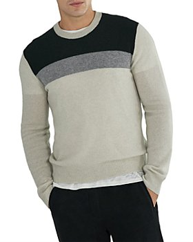 ATM Anthony Thomas Melillo - Cashmere Color Blocked Slim Fit Sweater