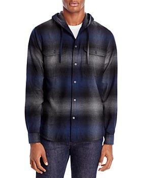 Vince - Plaid Hooded Shirt Jacket