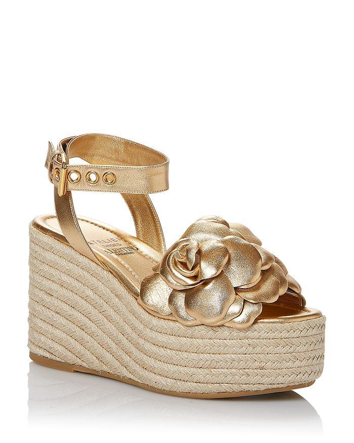 Valentino Garavani - Women's Atelier 03 Rose Edition Embellished Espadrille Wedge Sandals