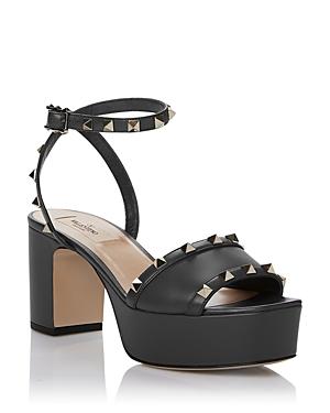 Valentino Garavani Women's Rockstud Ankle Strap Platform Sandals