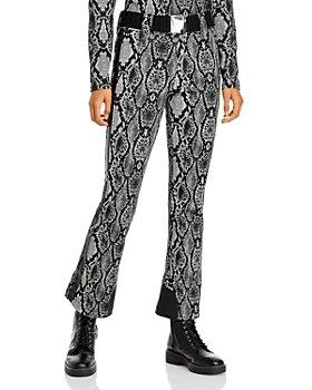 GOLDBERGH - Diamond Snake Print Belted Pants