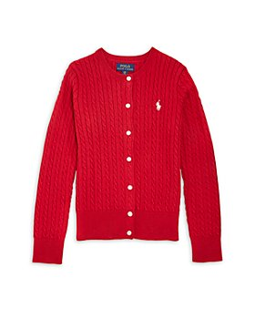 Ralph Lauren - Girls' Cotton Cable Knit Cardigan - Little Kid, Big Kid