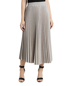 VINCE CAMUTO - Metallic Pleated Skirt