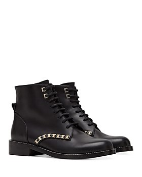 Salvatore Ferragamo - Women's Lace Up Embellished Boots