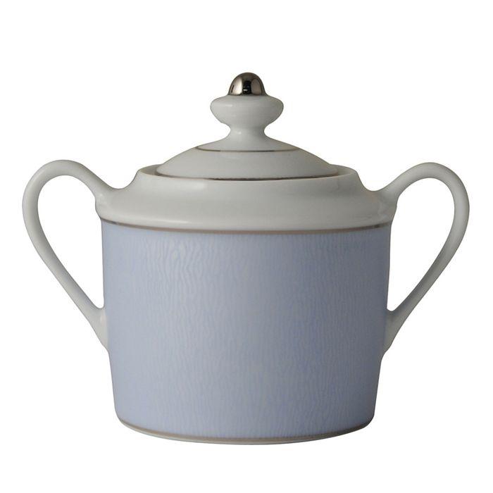 "Bernardaud - ""Dune Blue"" Covered Sugar Bowl"