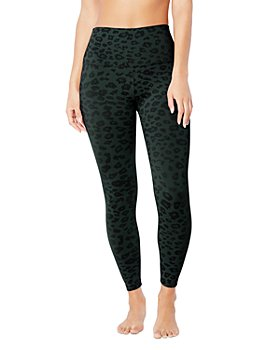 Beyond Yoga - High-Rise Leopard Print Midi Leggings