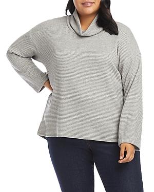 Karen Kane Plus Ribbed Turtleneck Sweater