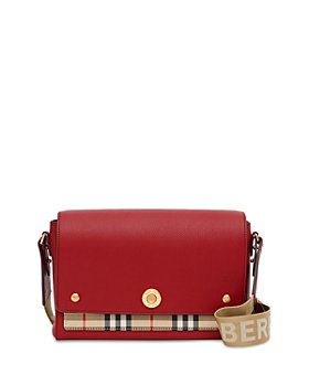 Burberry - Leather and Vintage Check Note Crossbody Bag