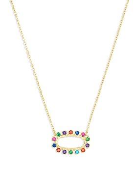 """Kendra Scott - Elisa Cubic Zirconia Open Frame Adjustable Pendant Necklace, 18""""-18.75"""""""