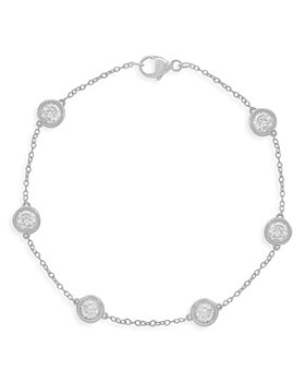 Bloomingdale's - Diamond Bezel Station Bracelet in 14K White Gold, 2.0 ct. t.w. - 100% Exclusive
