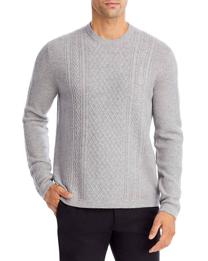 Vince - Wool-Cashmere Cable Crewneck Sweater