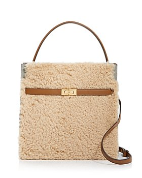 Tory Burch - Lee Radziwill Shearling Convertible Satchel
