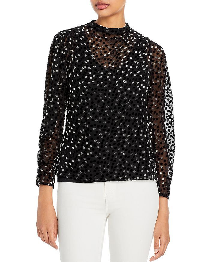 Rebecca Taylor - Dotted Sheer Top