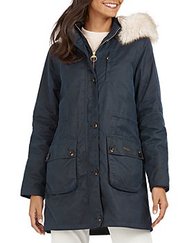 Barbour - Nightingale Faux Fur Trim Waxed Cotton Jacket