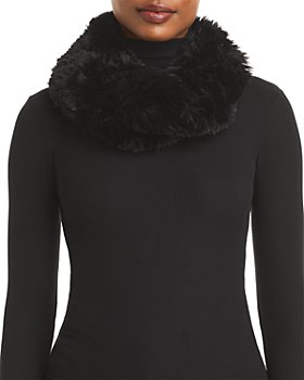 Surell - Faux Fur Stretch Knit Infinity Loop Scarf