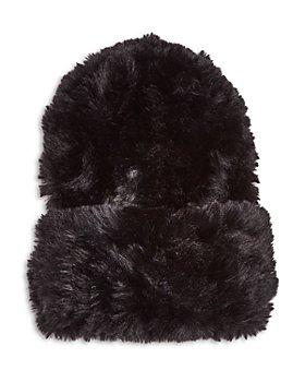 Surell - Faux Rabbit Fur Slouchy Beanie