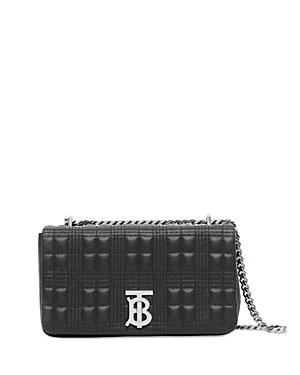 BURBERRY LOLA SMALL QUILTED GRAINY LEATHER RUNWAY BAG