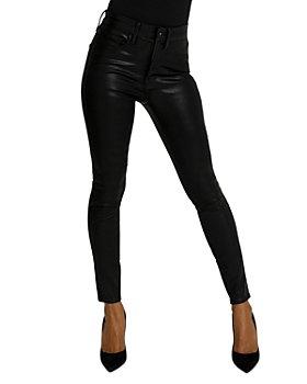 Good American - Good Legs Coated Skinny Stretch Jeans in Black