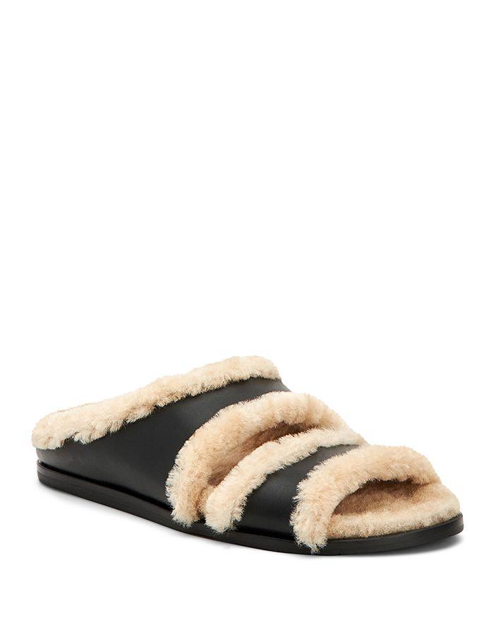 Aquatalia - Women's Iminan Shearling & Leather Slippers